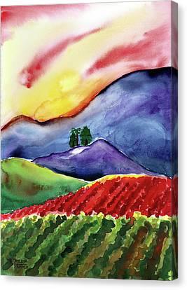Carneros Sunset Canvas Print by Amelia Hunter