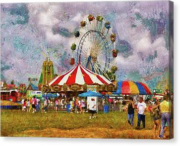 Carnival - Look At All The Excitement Canvas Print by Mike Savad