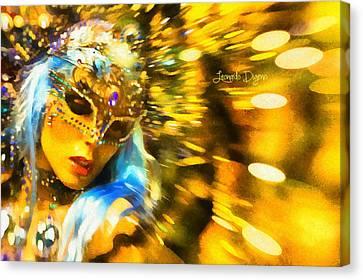 Carnival Fantasy - Da Canvas Print by Leonardo Digenio