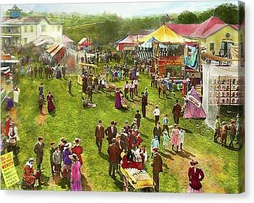 Carnival - Summer At The Carnival 1900 Canvas Print by Mike Savad