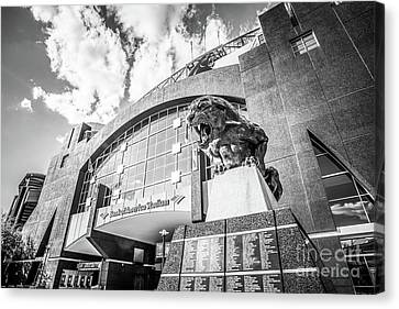 Carolina Panthers Stadium Black And White Photo Canvas Print by Paul Velgos