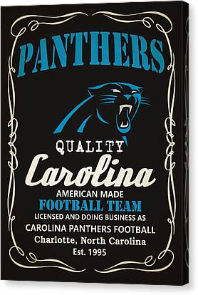 Carolina Panthers Whiskey Canvas Print by Joe Hamilton