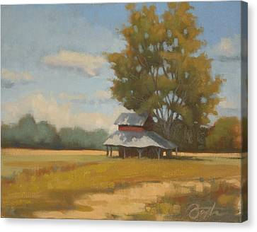 Carolina Tobacco Barn Canvas Print by Todd Baxter