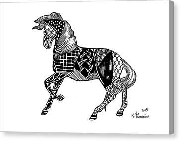 Carousel Horse Canvas Print by Kayleigh Semeniuk