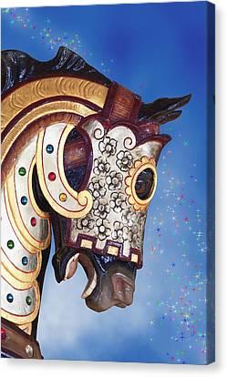 Carousel Horse Canvas Print by Tom Mc Nemar