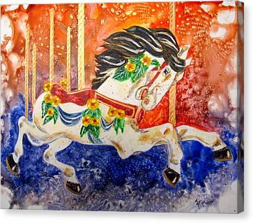 Carousel Canvas Print by Marsha Elliott