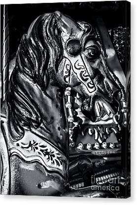 Carousel Of Despair 2 Canvas Print by James Aiken