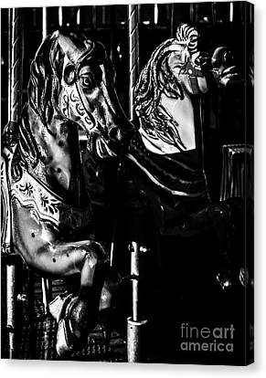 Carousel Of Despair 3 Canvas Print by James Aiken