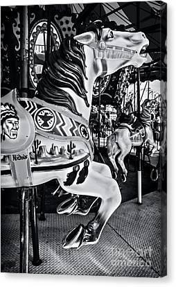 Carousel Of Despair 7 Canvas Print by James Aiken
