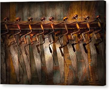 Carpenter  - Saws And Braces  Canvas Print by Mike Savad