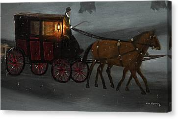 Carriage Ride Canvas Print by Ken Figurski