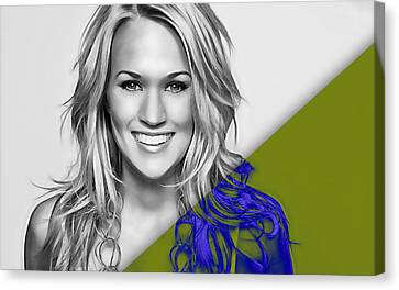 Carrie Underwood Collection Canvas Print by Marvin Blaine
