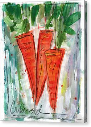 Carrots Canvas Print by Linda Woods