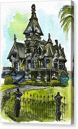 Carson Mansion Canvas Print by Lynn Takacs