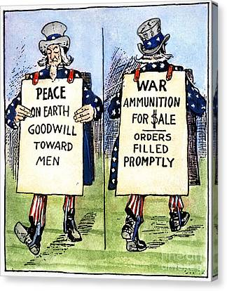 Cartoon: U.s. Neutrality Canvas Print by Granger