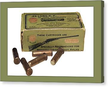 Cartridges For Rifle Canvas Print by Susan Leggett