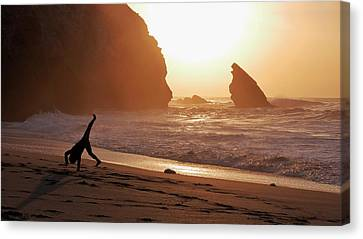 Cartwheels And Sunsets Canvas Print by Steffani Cameron