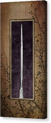 Carving Set Sharpener Triptych 3 Canvas Print by Tom Mc Nemar