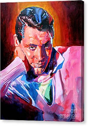 Cary Grant - Debonair Canvas Print by David Lloyd Glover