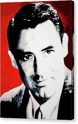 Cary Grant Canvas Print by Luis Ludzska