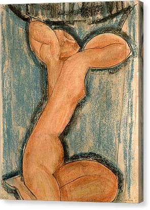 Caryatid Canvas Print by Amedeo Modigliani