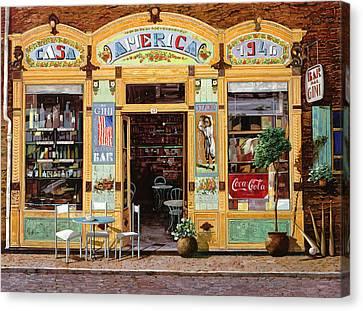 Casa America Canvas Print by Guido Borelli