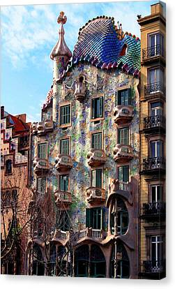 Casa Batllo Canvas Print by Vincent Abbey