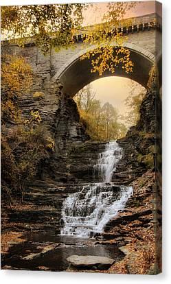 Cascadilla Falls Canvas Print by Jessica Jenney
