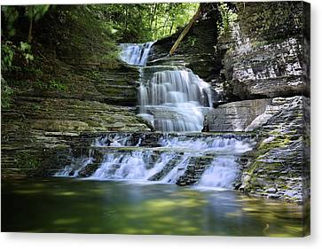 Cascading Descent Canvas Print by Gary Yost
