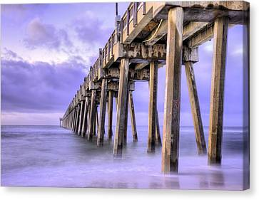Casino Beach Pier Canvas Print by JC Findley