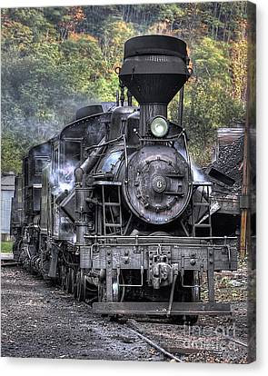 Cass Railroad Engine No 6 Canvas Print by Jerry Fornarotto