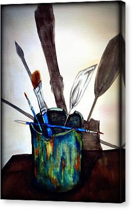 Cast Shadows Canvas Print by Colene Milligan