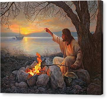 Cast Your Nets On The Right Side Canvas Print by Greg Olsen