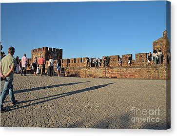 Castle Of Silves At Sunset Canvas Print by Angelo DeVal