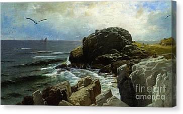 Castle Rock - Marblehead Canvas Print by Lianne Schneider