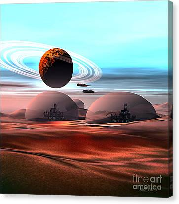 Castles In The Sand Canvas Print by Corey Ford