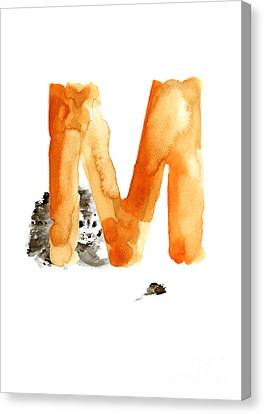 Cat And Mouse Minimalist Painting Canvas Print by Joanna Szmerdt