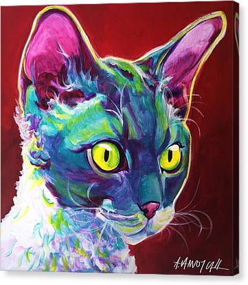 Cat - Devon Rex Canvas Print by Alicia VanNoy Call