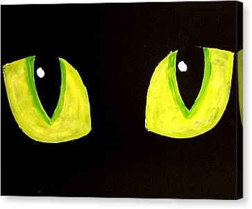 Cat Eyes Canvas Print by Teo Alfonso