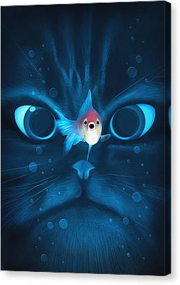 Cat Fish Canvas Print by Nicholas Ely