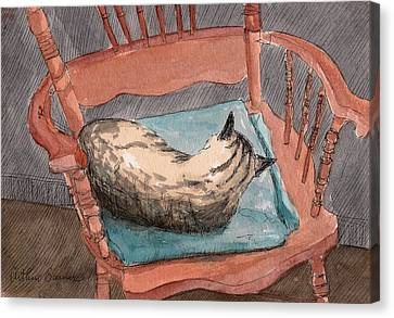 Cat Nap 2001 Canvas Print by Arthur Barnes