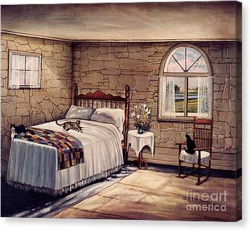 Cat Nap Canvas Print by Robert Foster