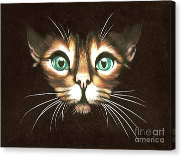 Cat With Green Eyes Canvas Print by Kristian Leov