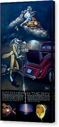Catch Her In The Sky Canvas Print by Patrick Anthony Pierson