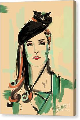 Kate Canvas Print by Go Van Kampen