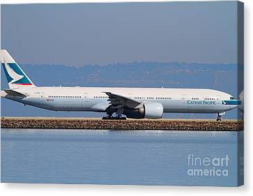 Cathay Pacific Airlines Jet Airplane At San Francisco International Airport Sfo . 7d11882 Canvas Print by Wingsdomain Art and Photography