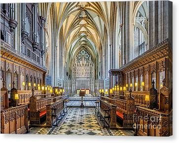 Cathedral Aisle Canvas Print by Adrian Evans