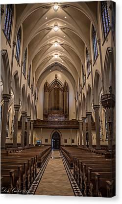 Cathedral Architecture  Canvas Print by Carlos Ruiz