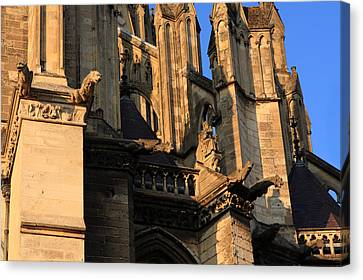 Cathedral Basilica Of Our Lady Of Amiens Canvas Print by Aidan Moran
