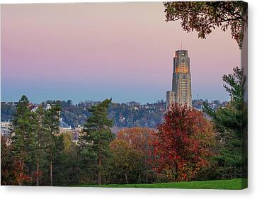Cathedral Of Learning Canvas Print by Emmanuel Panagiotakis